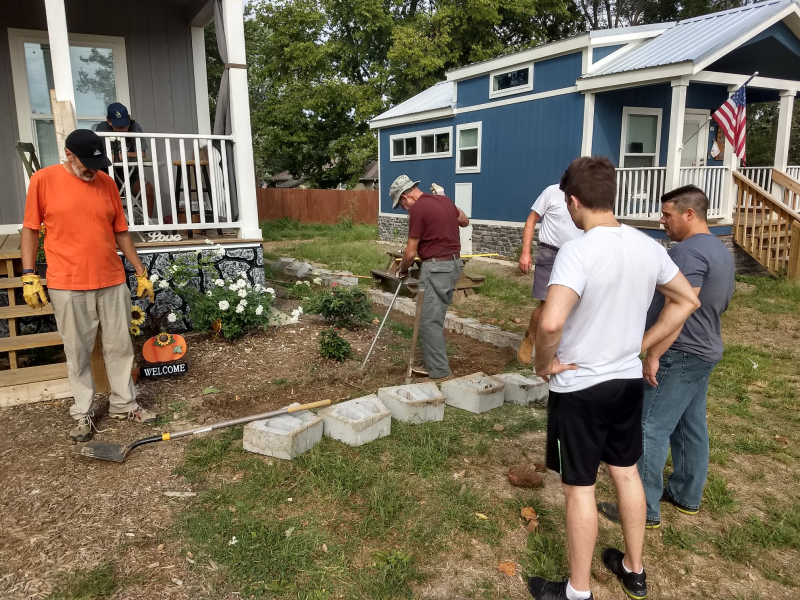Rotarians help at Eden Village