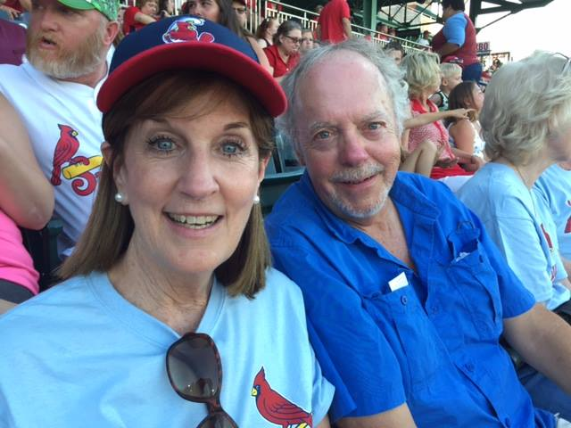 Kathleen and Jim enjoy Rotary day at the Springfield Cardinals game