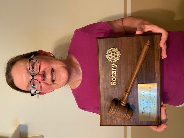 Many Thanks to Tamera Jahnke our 2019-2020 Rotary Club President