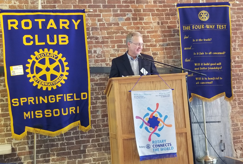 Rotary President Michael Overton assumes club leadership