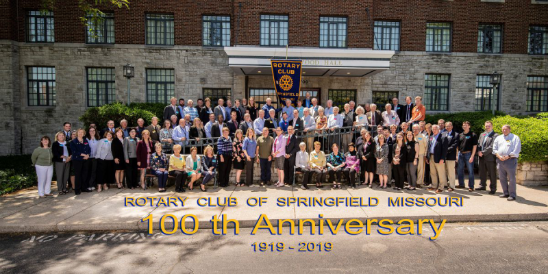 Downtown Rotary Club of Springfield Centennial year 2019